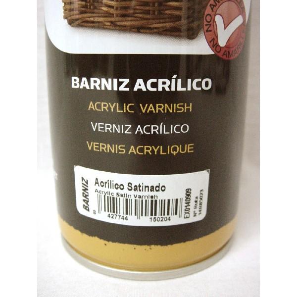Barnizar pintura acrilica