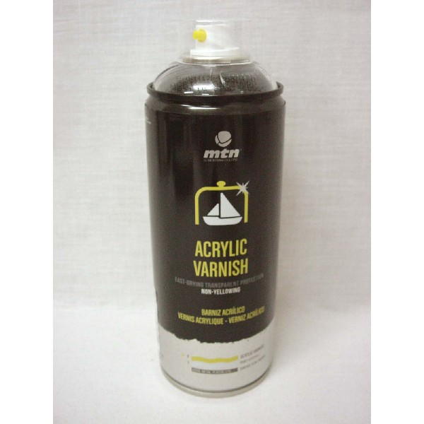 Bote spray pintura barniz acrilico satinado montana colors for Bote de pintura precio