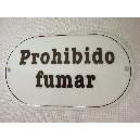 PLACA OVALADA LETRERO PROHIBIDO FUMAR